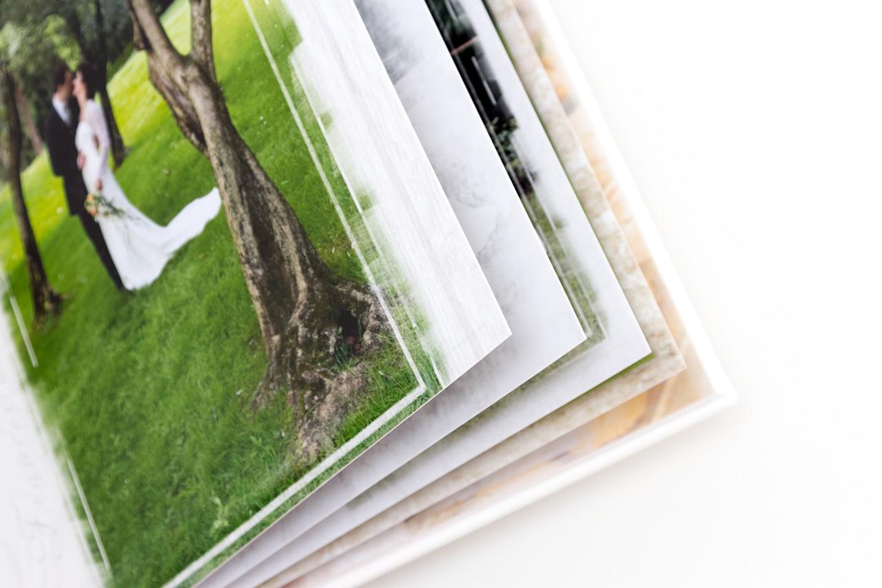 dettaglio di pagine di album matrimonio. Fotografo Marco Parisi Trento. Fotografo di matrimoni in Trentino