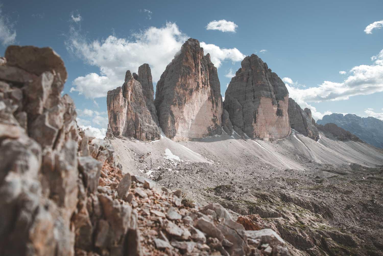 Panorama delle Tre Cime di Lavaredo in estate. Corso di fotografia a Trento, di Marco Parisi Fotografo.